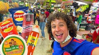 Visitando el mercado MÁS GRANDE de Colombia 😱🇨🇴