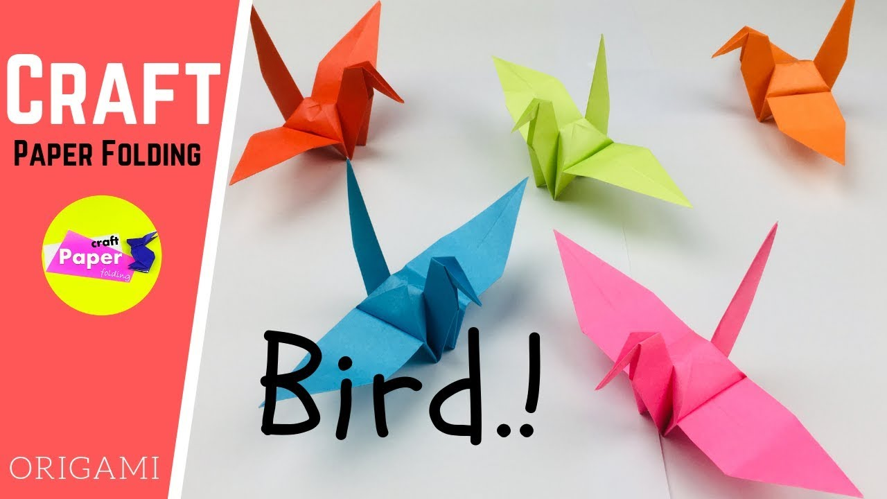 Step by Step Instructions for Making an Easy Origami Bird out of Paper | 720x1280