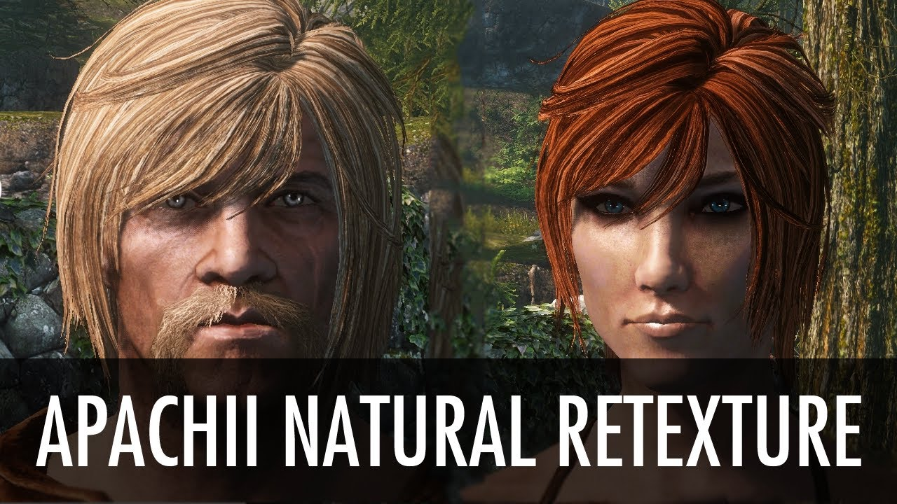 ApachiiSkyHair natural Retexture at Skyrim Nexus - mods and community