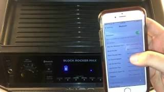 ION Audio Block Rocker Max - Pairing to a Bluetooth Device