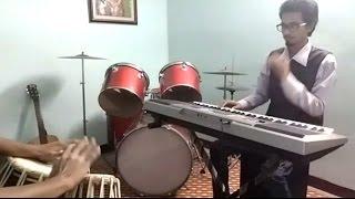 Oh kyu ni jaan sake piano + tabla cover | With lyrics | Ninja |
