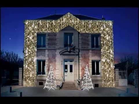 D coration de fa ade et sapins 3d festilight youtube for Decoration de facade