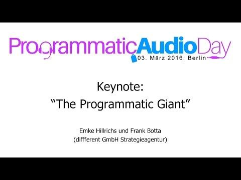 "Keynote: ""The Programmatic Giant"" #PAD2016"
