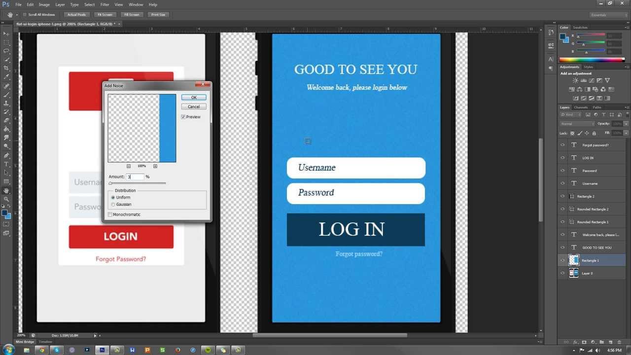 "Photoshop 101 – How to add ""Noise"" (Fuzzy Effect) (Photoshop CS3-CS6) + CC"