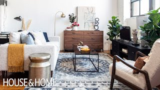 Loft Makeover: A Living Room & Home Office Space!