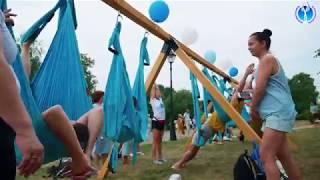 Йога в гамаках. Airyoga. 4 Фестиваль Йоги в Москве.