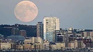 """Eclipse de """"super-lune"""" : la lune en rouge et noir"""
