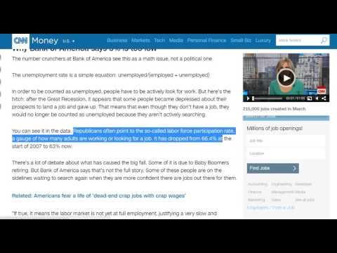 CNN-Wall Street bank says U.S. unemployment isn't 5%