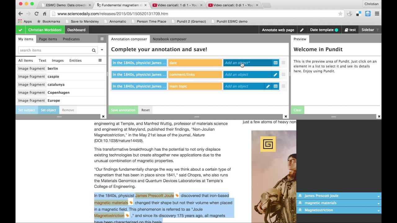 Eswc 2015 pundit demo advanced annotation youtube eswc 2015 pundit demo advanced annotation ccuart Choice Image