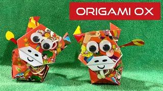 賀年摺紙  DIY Chinese New Year Red Packet Decor   Easy Angpow Ox Origami Tutorial