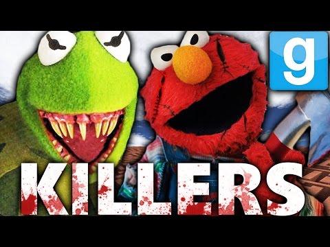 KILLER KERMIT AND ELMO?!   Garry's Mod Murder Maze Challenge