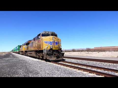 Chasing Union Pacific Freight Train across New Mexico