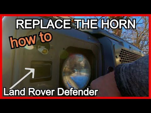 How to replace your HORN   Land Rover Defender   Repair series