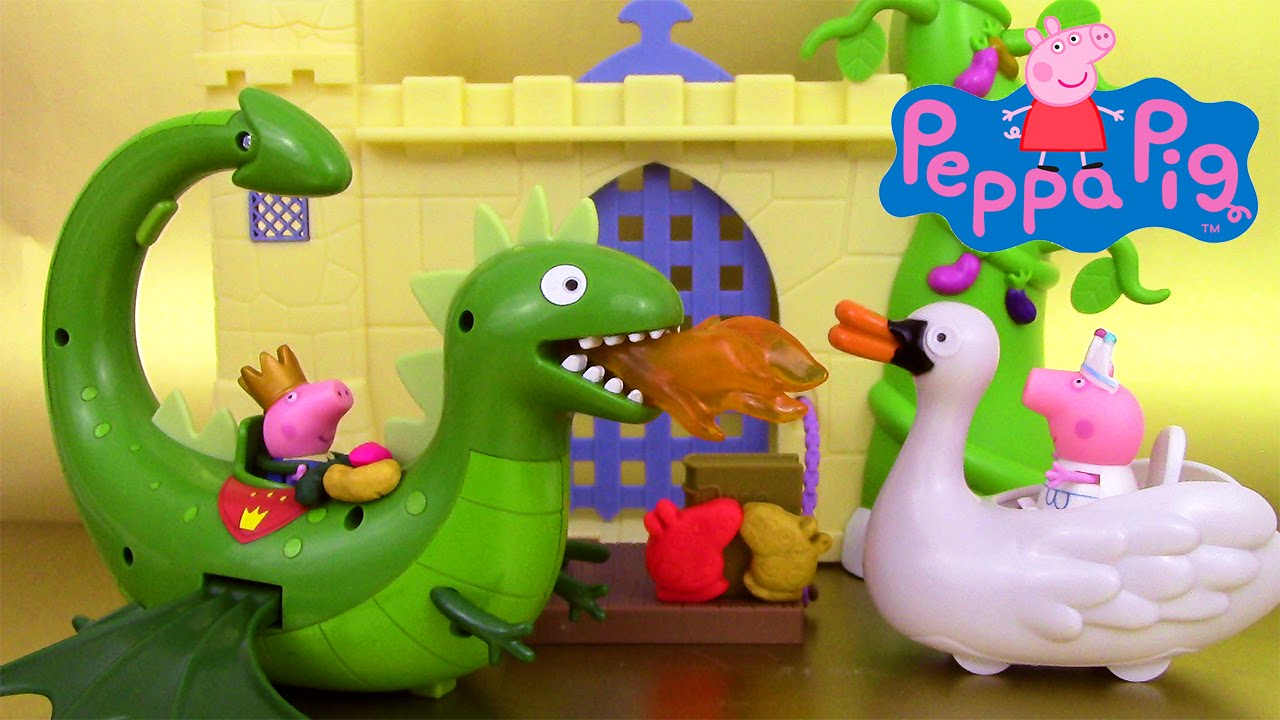 Peppa pig once upon a time dragon flyer swan jouets il tait une fois cygne p te modeler - Jouet peppa pig carrefour ...