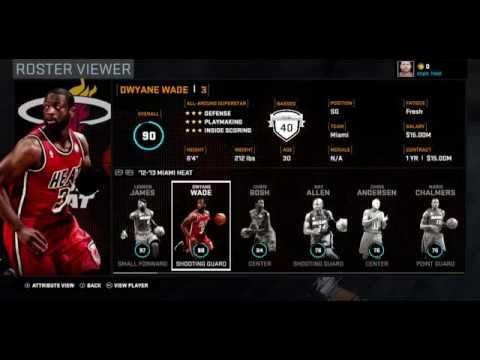 NBA 2K16 Ratings: 2012-13 Miami Heat