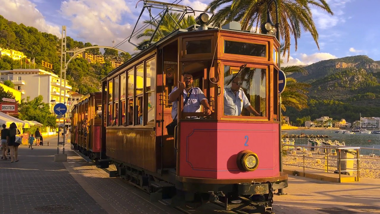 Sóller vintage trains and trams - YouTube