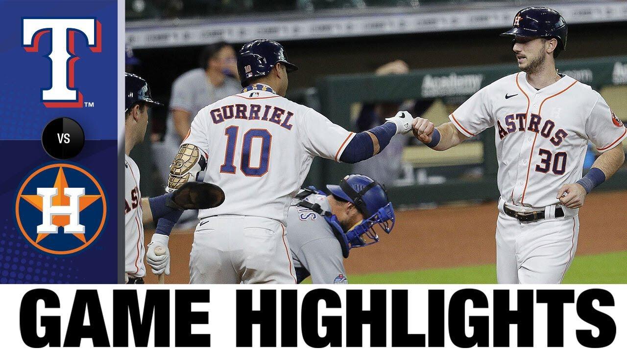Tucker cranks a two-run HR, Valdez K's 11 in 2-1 win | Rangers-Astros Game Highlights 9/17/20