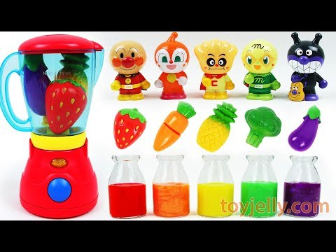 Thumbnail: Learn Colors Feeding Baby Food Anpanman Dolls Fruit Vegetable Blender Velcro Toy Kids Nursery Rhymes