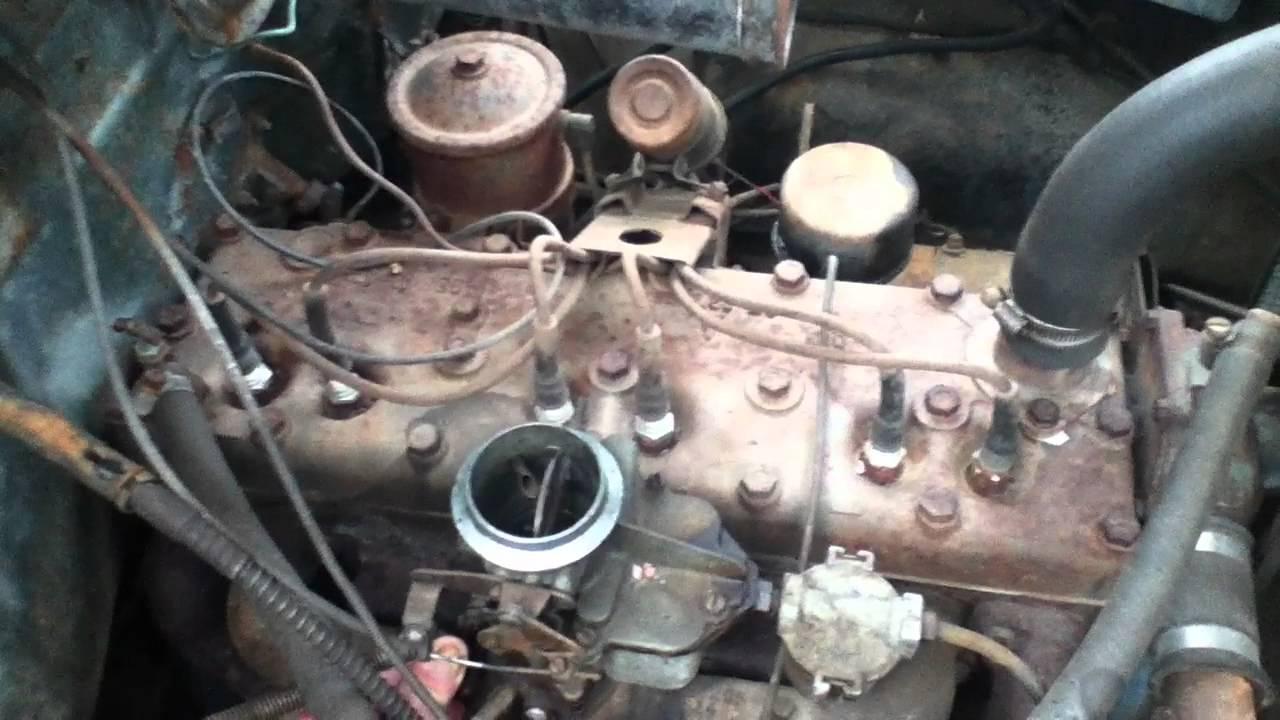 1953 Dodge 218 flathead I6 engine running  YouTube