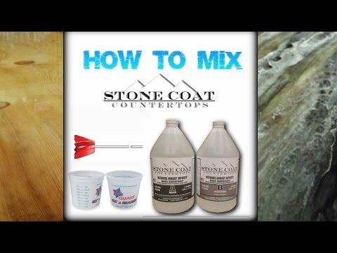 Mixing Stone Coat Countertops material