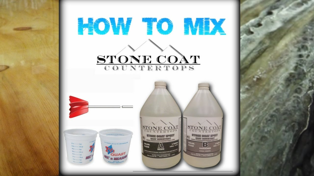 Mixing Stone Coat Countertops Material Youtube