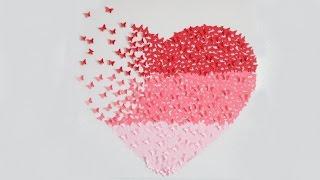 DIY | Geschenkideen zum Valentinstag & Muttertag | Bild Butterfly - Herz | SWEETLIFESUNSHINE