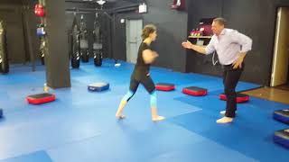 Anna CHALLENGES A BRUH - PART 2 - Sports Push Hands grappling