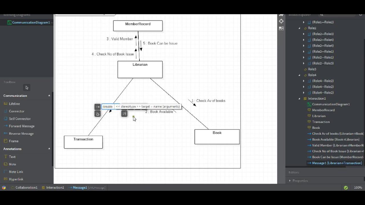 hight resolution of communication diagram staruml