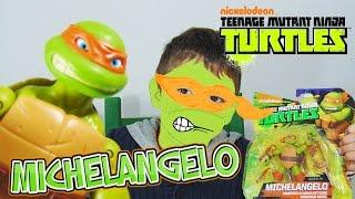 Χελωνονιτζάκια ΝΕΑ Φιγούρα Δράσης Παιχνίδια NEW Deco Michelangelo Figure Nickelodeon TMNT