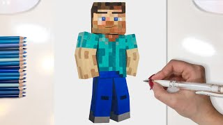 MINECRAFT DRAWING - ART 3D (Animated)