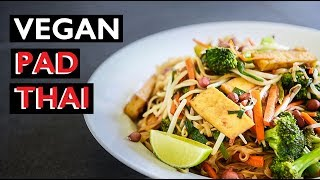 VEGAN PAD THAI RECIPE | EASY HOW TO MAKE (ผัดไทย) (ˌpäd ˈtī)