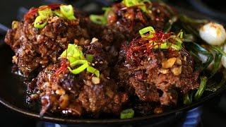 Minced, Seasoned, & Grilled Beef Ribs (Tteokgalbi : 떡갈비)