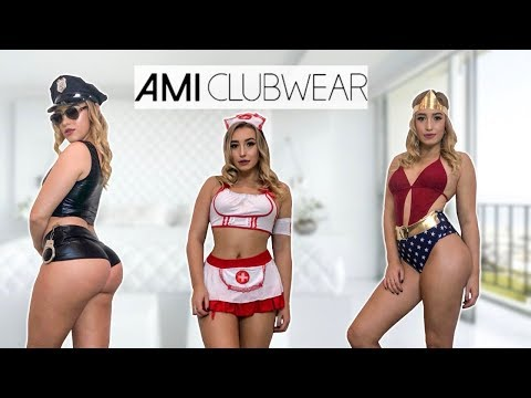 AMICLUBWEAR | Sexy Halloween Costume Try-On Haul | Jessie Sims
