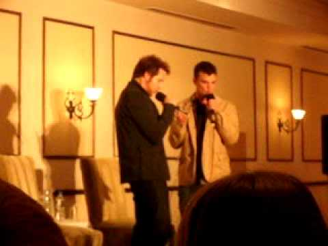 AJ Buckley And Travis Wester singing Ghostfacers