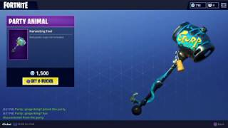 Last Day to get the Party Animal Pickaxe! (Fortnite Daily Store Update 3-28-18)