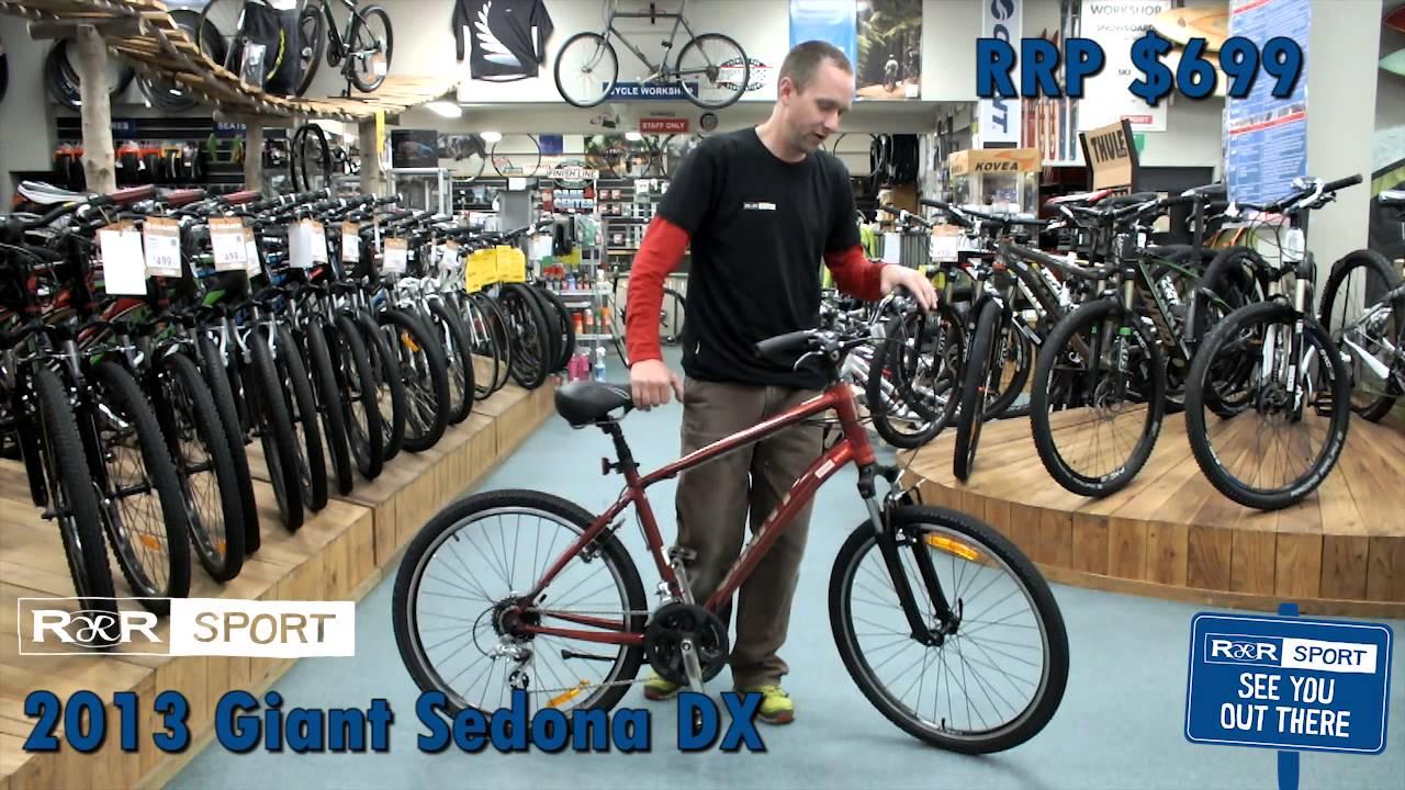 2013 giant sedona dx mountain bike review - youtube