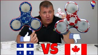 Hand Fidget Spinner Quebec VS Canada Review Francais ThinkUnBoxing LIVE !