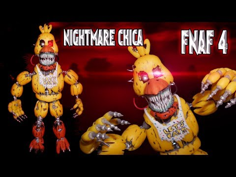 NIGHTMARE CHICA Posable Figure / LED | FNAF 4 | Cold Porcelain / Polymer Clay Tutorial