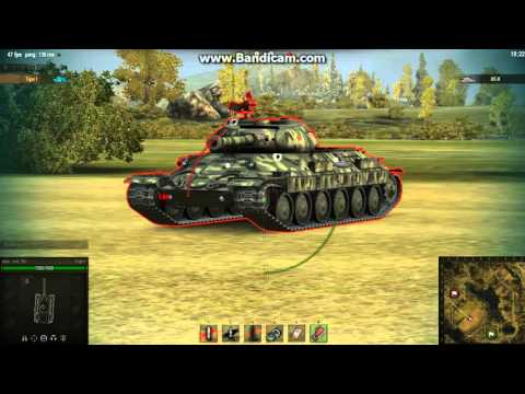 Зоны пробития Танка ИС-6 World Of Tanks ( В HD)