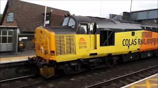 Network Rail 9701 + 37175 at Attenborough - 15/6/2018