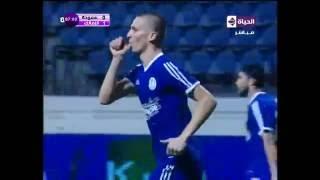 بالفيديو..سموحة يتعادل أمام الزمالك بهدف محمود عزت