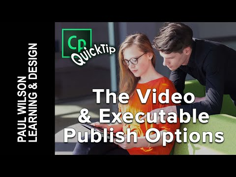 Adobe Captivate - Video and Executable Publish Options