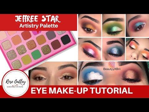 Jeffree Star Artistry Palette | Eye Make up Tutorial | Morphe San Antonio TX thumbnail
