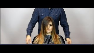 How to cut beautiful soft layers. Step by step haircut Tutorial.
