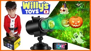 Holiday Light Projector Review Halloween Christmas Easter and More - Willy