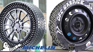 Download I've  made an Airless Tire like Michelin UPTIS, using windshield sealant Mp3 and Videos