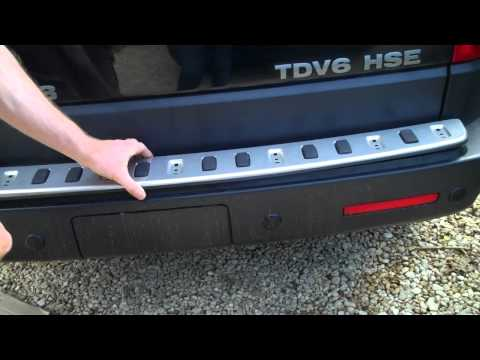 How to fit rear bumper tread plate on Land Rover Discovery 4
