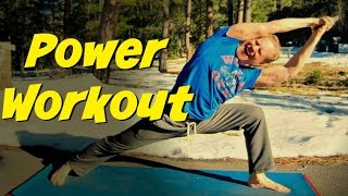 RELENTLESS Power Yoga Warrior Strength Workout - 35 Min Vinyasa Yoga Class #poweryoga