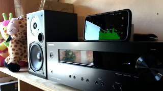 pOLK AUDIO T-15 SOUND TEST/POWERED BY ONKYO TX-8220 (1)
