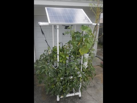 Build this Solar Powered Hydroponic Water Garden on Wheels - MUST READ! - All